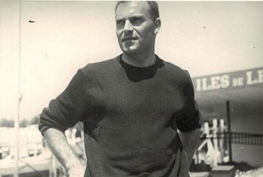 Michele Rosa durante uno dei suoi tanti viaggi all'estero -1965