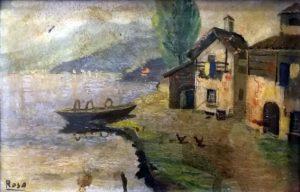 Paesaggio sul lago,1944