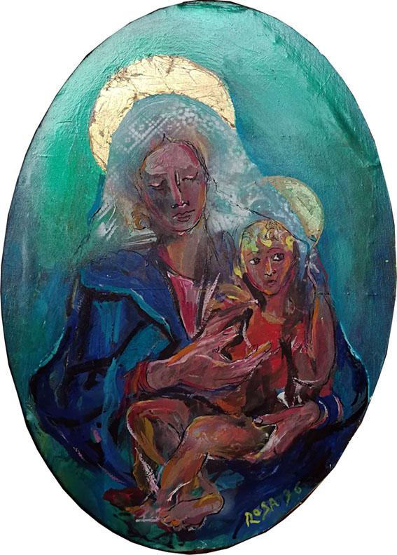 Madonna con bambino, 1996 - 50x70