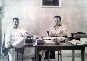 Michele Rosa con l'amico Domenico Di Passio, 1961