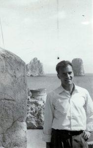 Michele Rosa a Capri, 1957