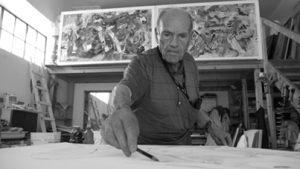 Michele Rosa nel suo studio, 2014