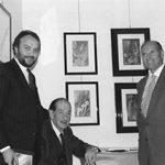 Rosa Michele con i pittori Fantauzzi e Capocci