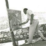 Mostra estemporanea a Segni (Fr) - 13 Agosto 1961