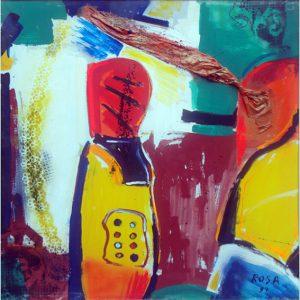 Astratto,  1999 - 100x100 cm