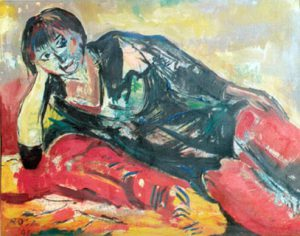Donna in posa,  1991 - 112x98