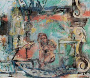Nudo con scenografia,  1994 - 120x102