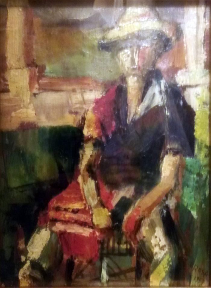 Anziano seduto, 1959