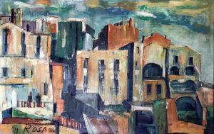 Case a Sperlonga, 1960 - 116x74 cm (olio su tela)