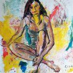 Donna silente, 2002 - 100 x 110 cm
