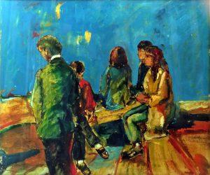 Giovani a Trinita de Monti, 1966 - 60x50 cm