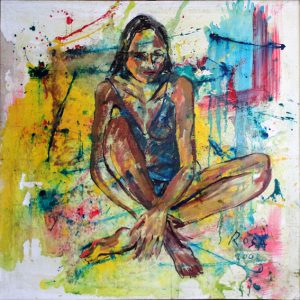 Donna in posa, 2002 - 130 x 130 cm