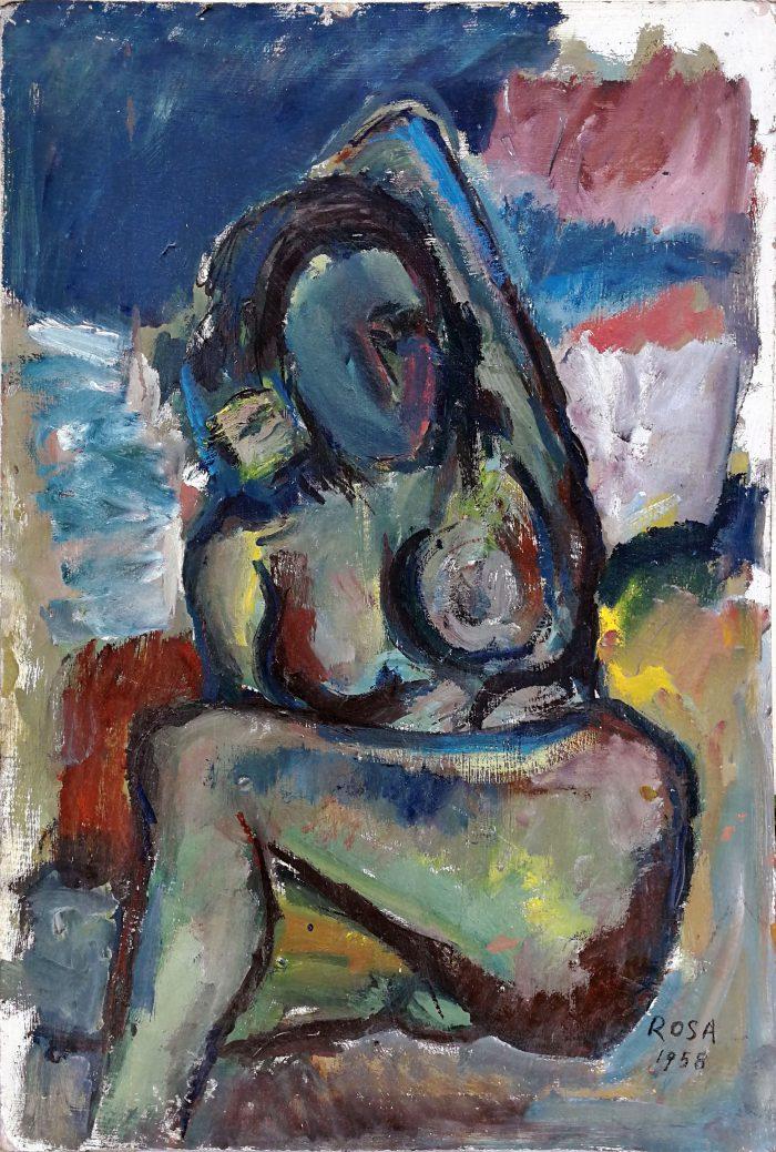 Nudo in posa, 1958 - 50x74 cm