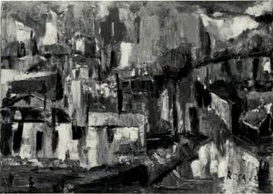 Paesaggio con case, 1963
