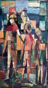 Profughi palestinesi, 1957 - 49x89 cm (olio su tela)