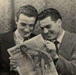 Michele Rosa con l'amico Bruno Paniccia nel periodo universitario