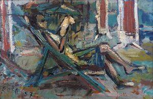 Relax al mare, 1957 - 60x40 cm