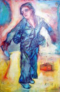 """Teatro """"Underground"""", 1976 - 55x85 cm  (olio su tela)"""