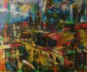 Tetti di Barcellona, 1996 -120 x 100 cm