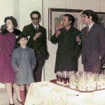 Carloja, con i pittori Gualdini e Leonetti presso la galleria Arte Club Esposizione a Sora - 1969 (?)