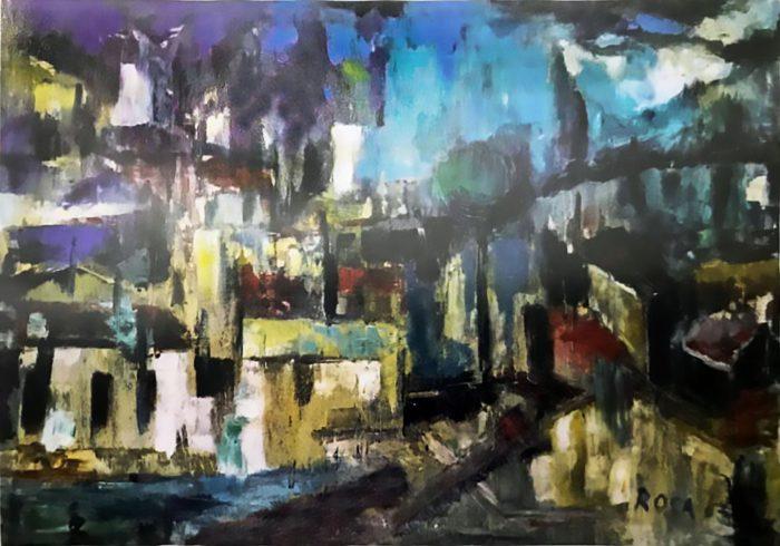 Paesaggio astratto, 1963 - 100x70 cm