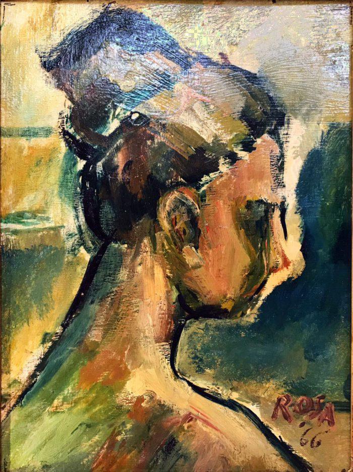Profilo di donna, 1966 - 30x40 cm