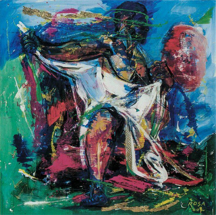 Le piaghe di Giobbe, 2003 - 130x130 cm