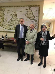Michele Rosa con il M. Rettore prof. Betta e la prof.ssa Tomassoni