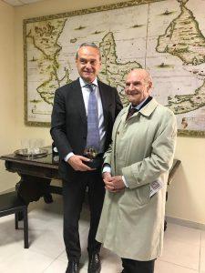 Il M.Rettore prof. Betta e Michele Rosa