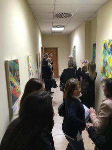 Gli ospiti intervenuti nell'anti sala del Rettorato