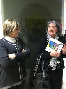 La prof.ssa Orofino e la Prof.ssa Tomassoni dell'Università di Cassino