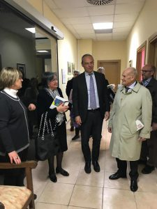 Michele Rosa con la rappresentanza universitaria: Orofino, Tomassoni, Betta