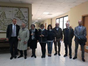 Michele Rosa con i rappresentanti dell'Università ed altri intervenuti