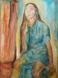 Ritratto di donna, 197_ - 60x80