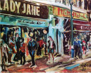 Londra_Scorcio urbano, 1981 - 50x40 cm
