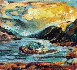 Scozia_Paesaggio nordico, 1981 - 60x50