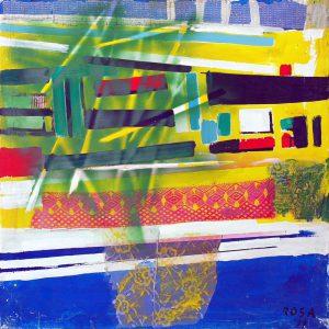 1) Astratto_1, 1996 - 96 x 96 cm