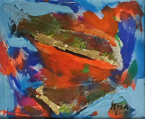 14) Astratto con apposizioni materiche_4, 2013 - 47,5 x 40,5 cm