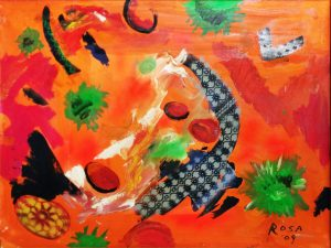 7) Virus, 2009 - 80 x 60 cm