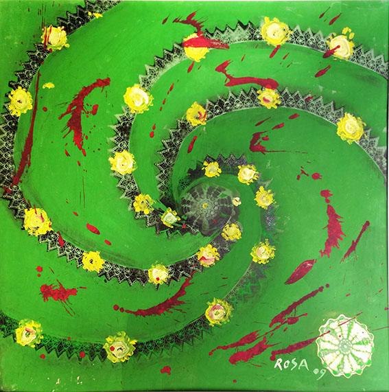 9) Natura_2, 2009 - 100 x 100 cm