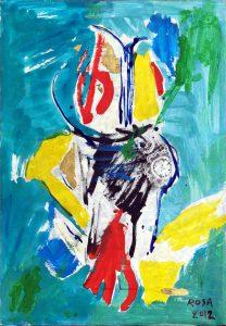 11) Astratto_4, 2012 -  69,5 x 100,5 cm