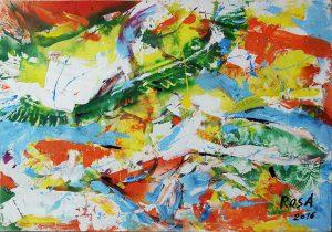 15) Astratto_7, 2016 - 100 x 70 cm
