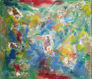 20) Caducità del denaro nell'immortalità dell'arte, 2018 - 128,5 x 110,5 cm