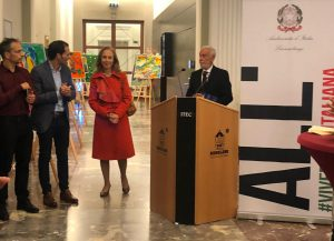 L'Ambasciatore Franchini, il Sindaco Biancalana e il giornalista Borghese