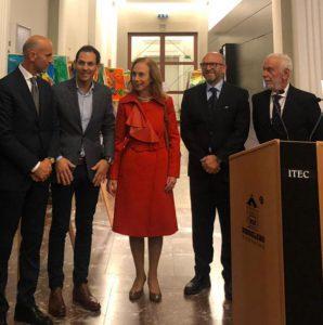 Errico ed Alessandro Rosa con l'Ambasciatore Franchini, il Sindaco Biancalana ed A. Borghese