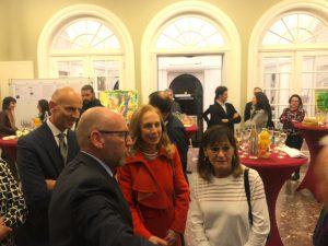 Errico ed Alessandro Rosa con l'Ambasciatore Franchini e la Sig.ra Forgione