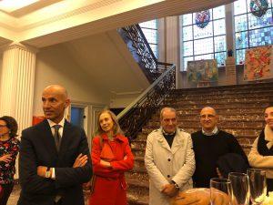 Alessandro Rosa, l'Ambasciatore Franchini, l'Arch. Raucci ed il prof. Forgione