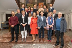 La famiglia Rosa con L'Ambasciatore, il Sindaco, amici ed alcuni Assessori comunali