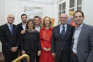 L'Ambasciatore Franchini, il Console dr.Costa, il Sindaco dott. Biancalana, Arch. Errico ROSA e Famiglia