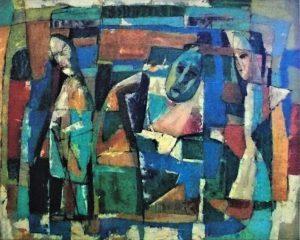 Maschera, 1957 (olio su tela)